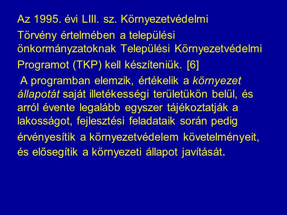 Az 1995. évi LIII. sz.