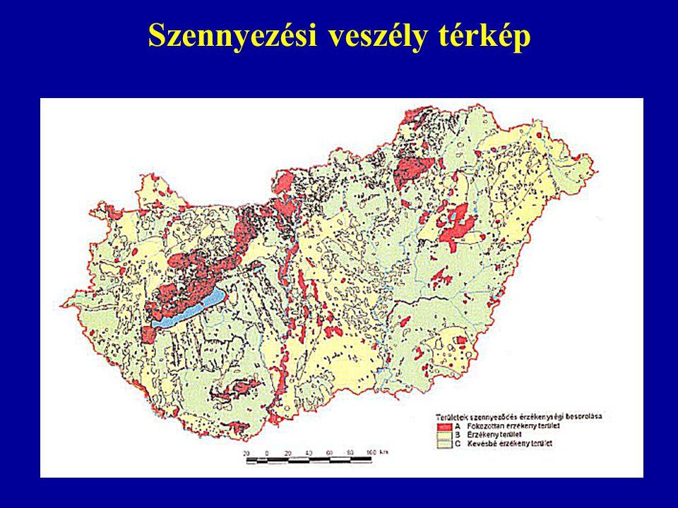 Szennyezési veszély térkép
