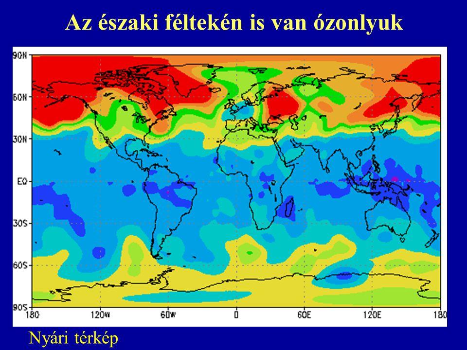Az északi féltekén is van ózonlyuk