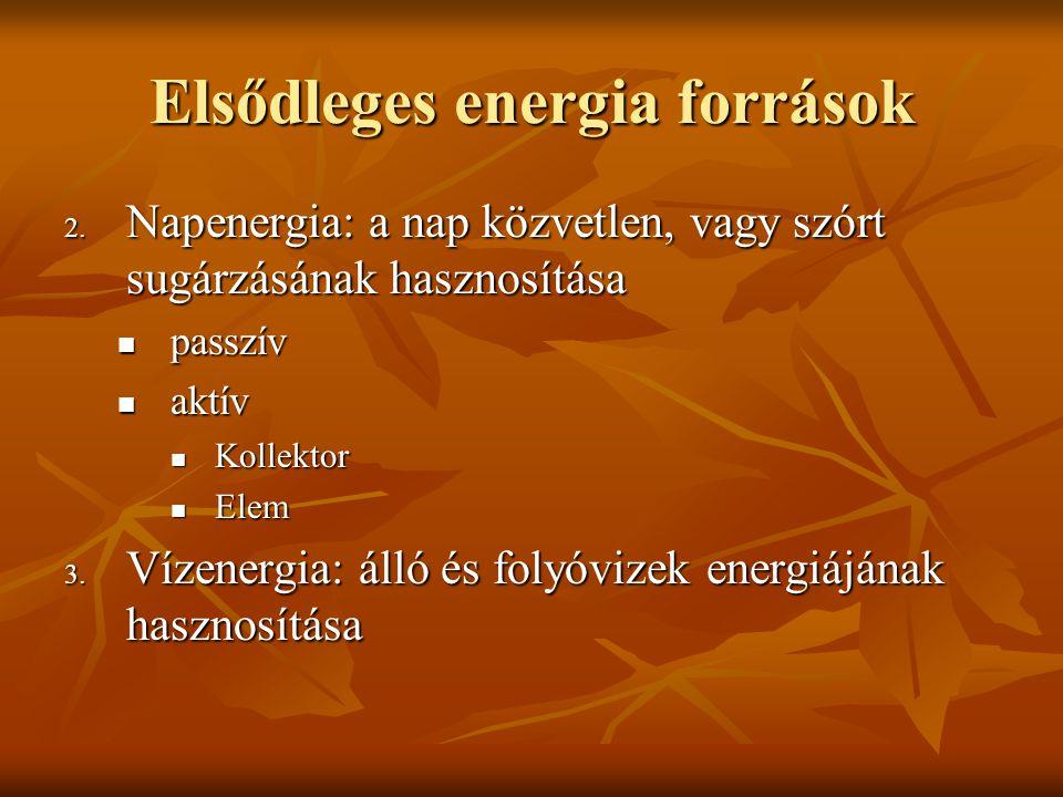 Elsődleges energia források