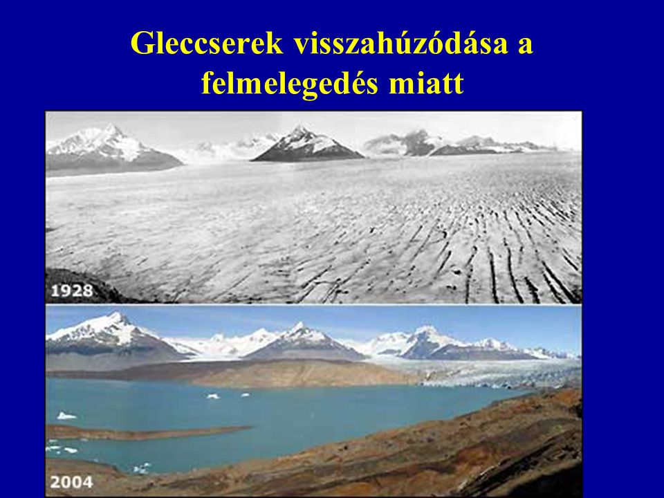 Gleccserek visszahúzódása a felmelegedés miatt