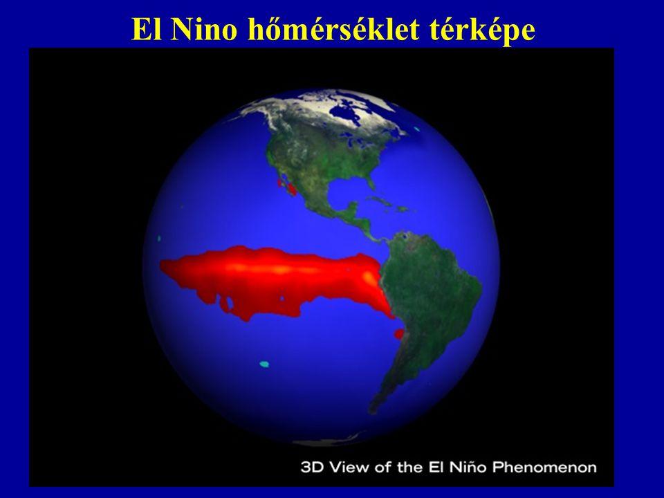 El Nino hőmérséklet térképe