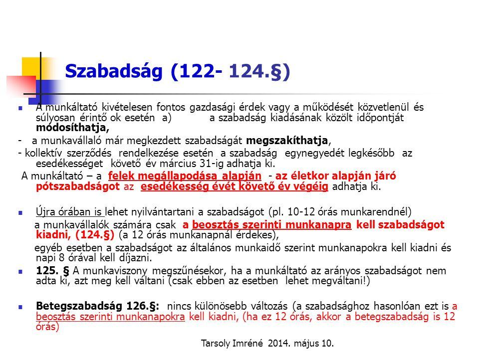 Szabadság (122- 124.§)