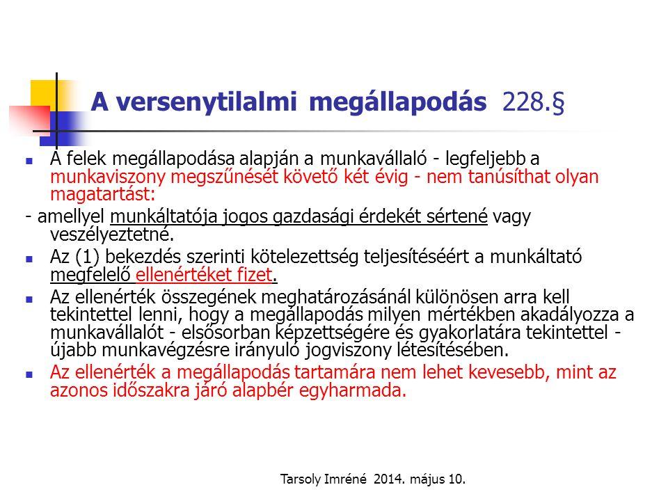 A versenytilalmi megállapodás 228.§