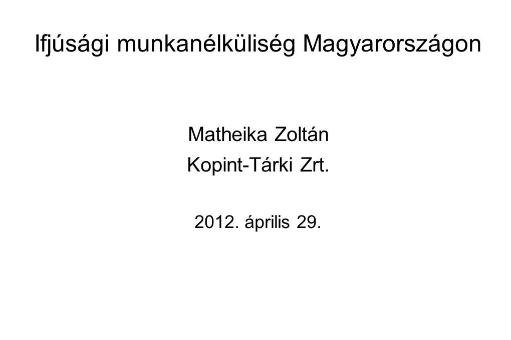 Ifjúsági munkanélküliség Magyarországon
