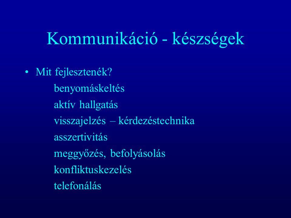 Kommunikáció - készségek