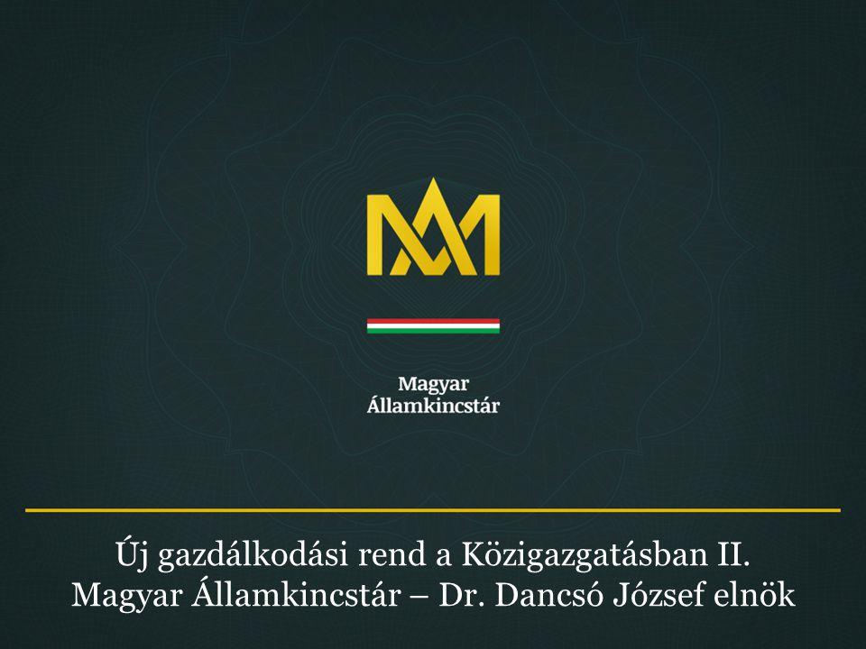 Új gazdálkodási rend a Közigazgatásban II. Magyar Államkincstár – Dr