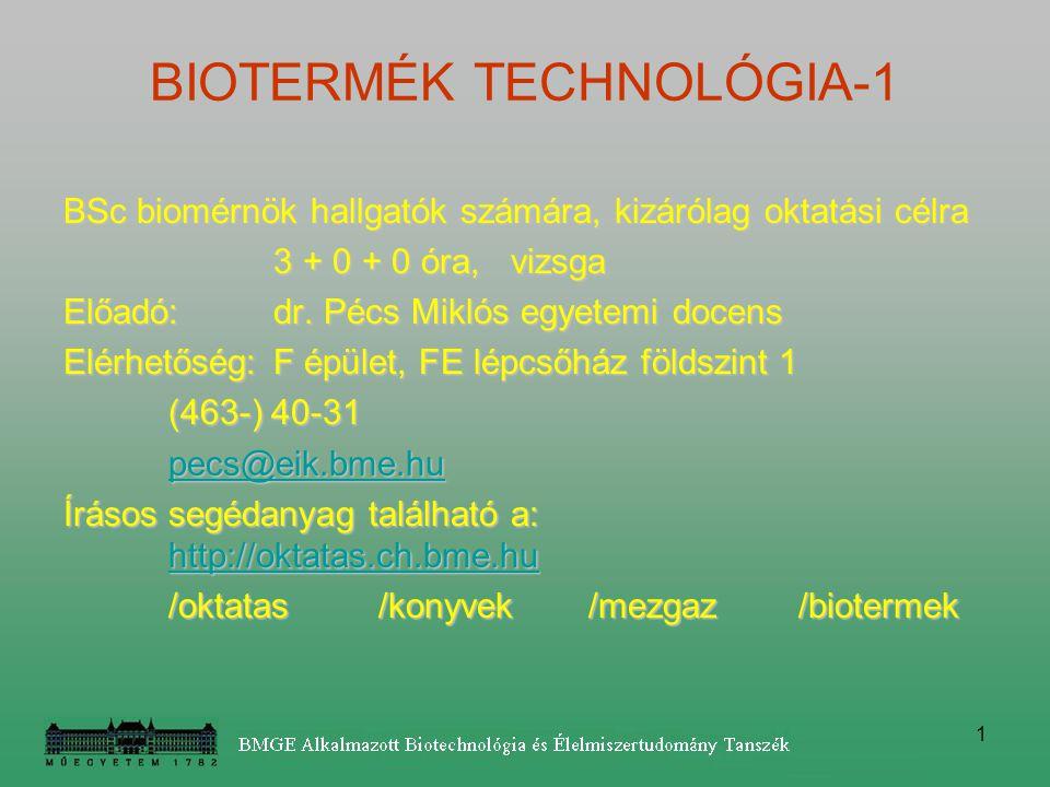 BIOTERMÉK TECHNOLÓGIA-1