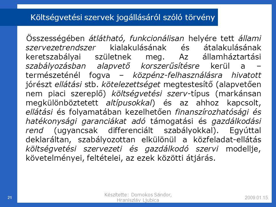 Költségvetési szervek jogállásáról szóló törvény