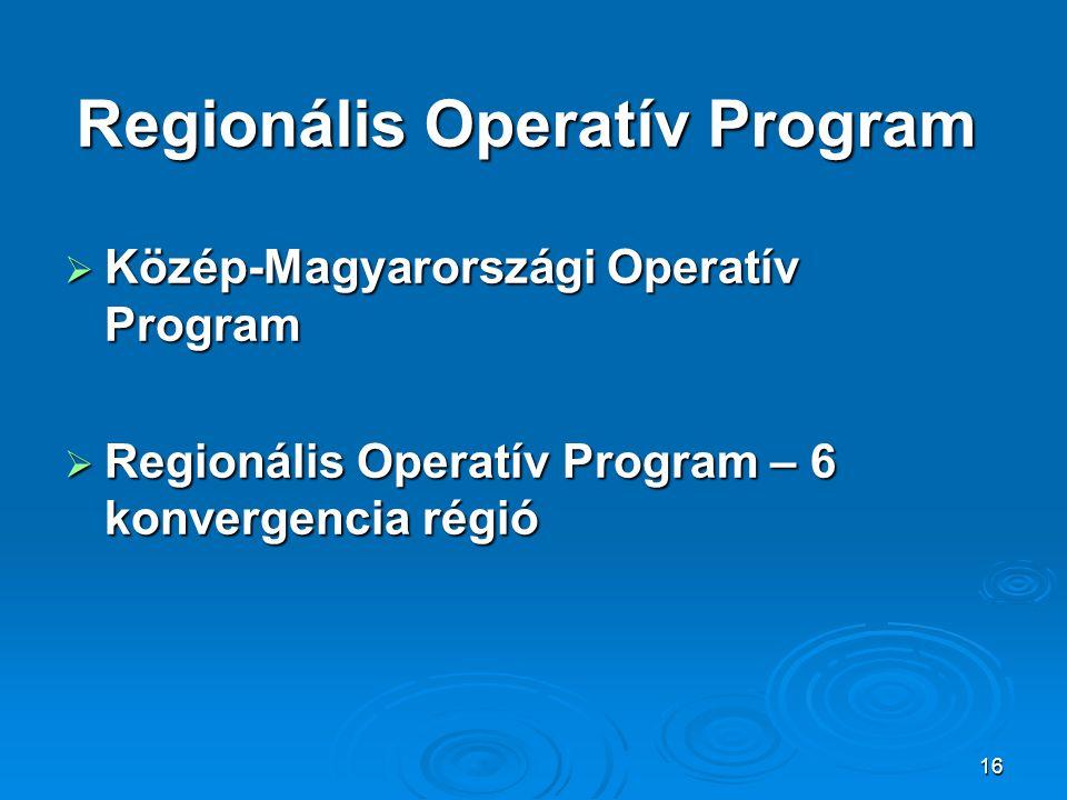 Regionális Operatív Program