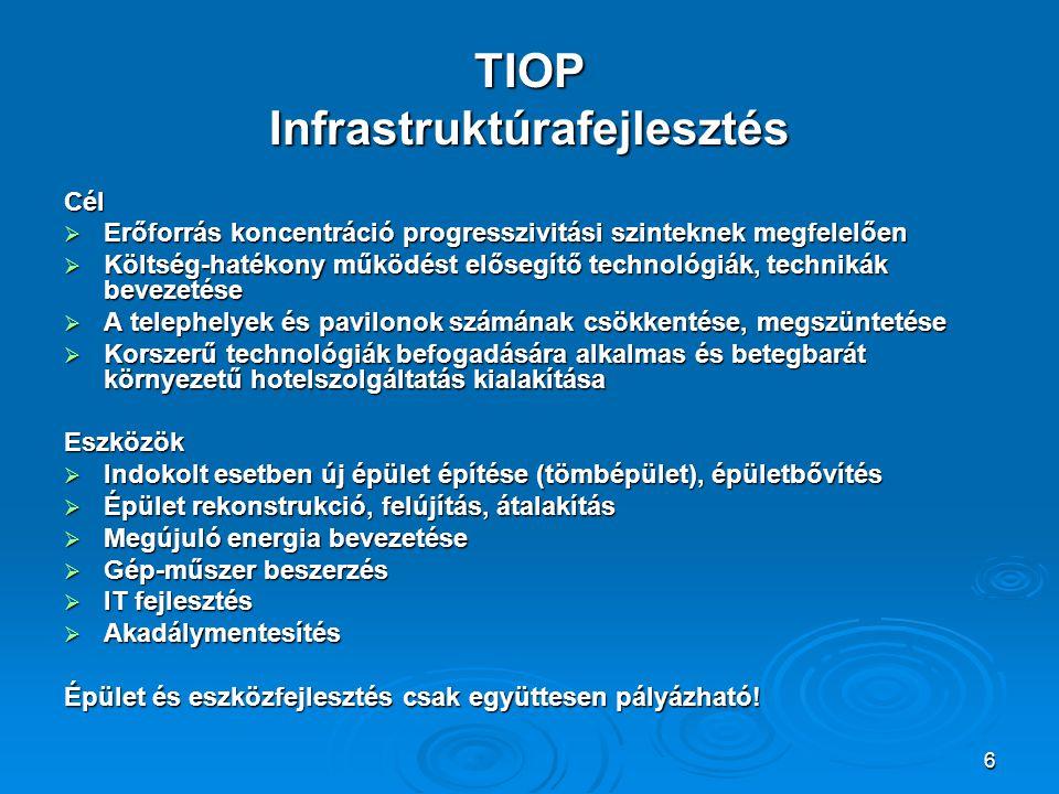 TIOP Infrastruktúrafejlesztés