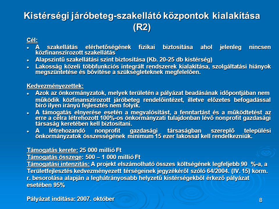 Kistérségi járóbeteg-szakellátó központok kialakítása (R2)
