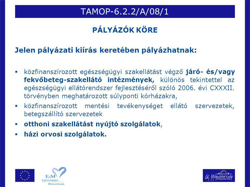 TAMOP-6.2.2/A/08/1 PÁLYÁZÓK KÖRE