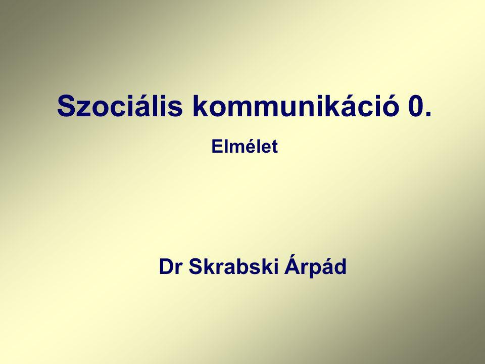 Szociális kommunikáció 0.