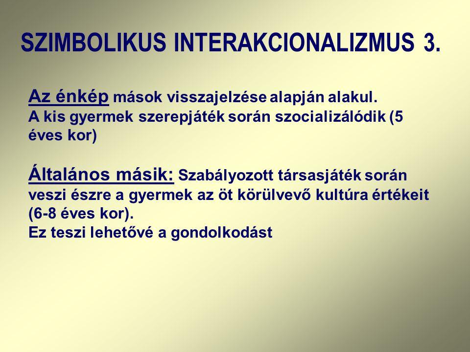 SZIMBOLIKUS INTERAKCIONALIZMUS 3.