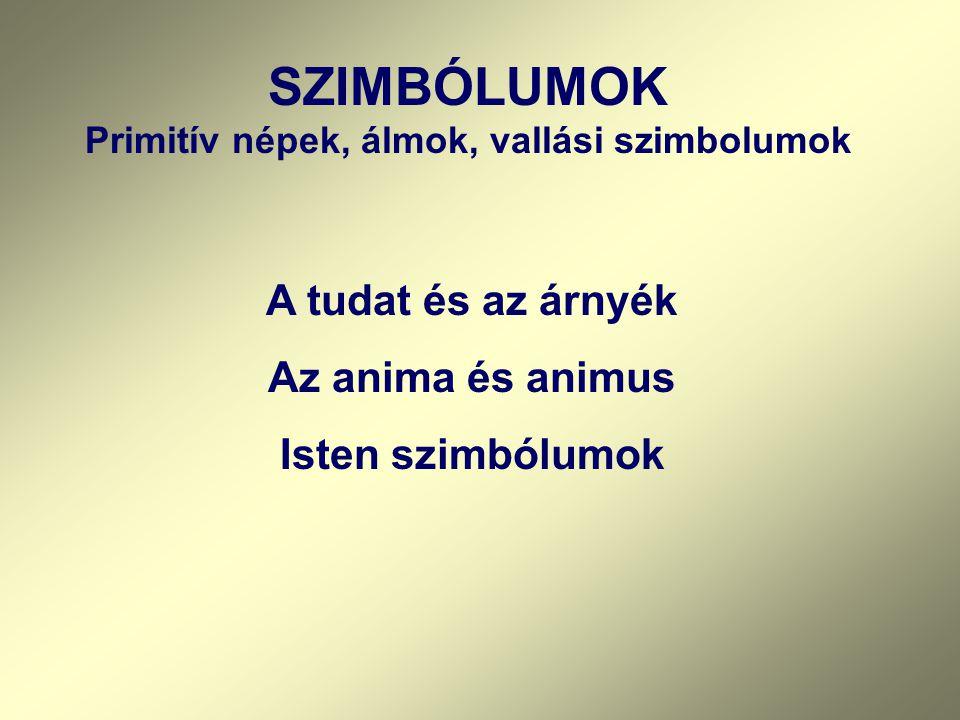 SZIMBÓLUMOK Primitív népek, álmok, vallási szimbolumok