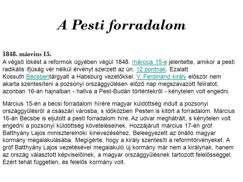 A Pesti forradalom 1848. március 15.