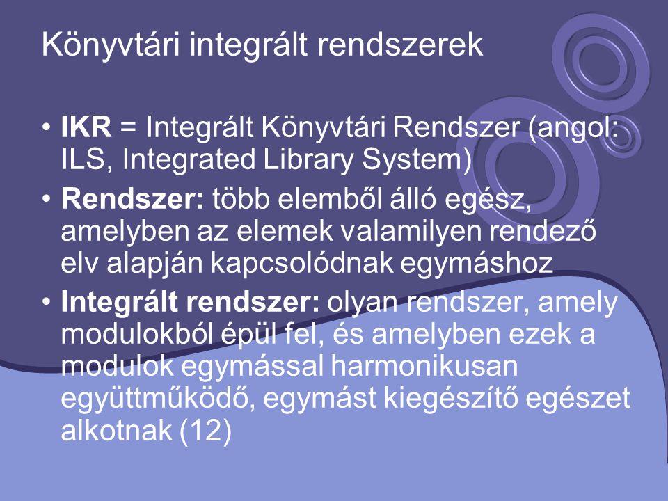 Könyvtári integrált rendszerek