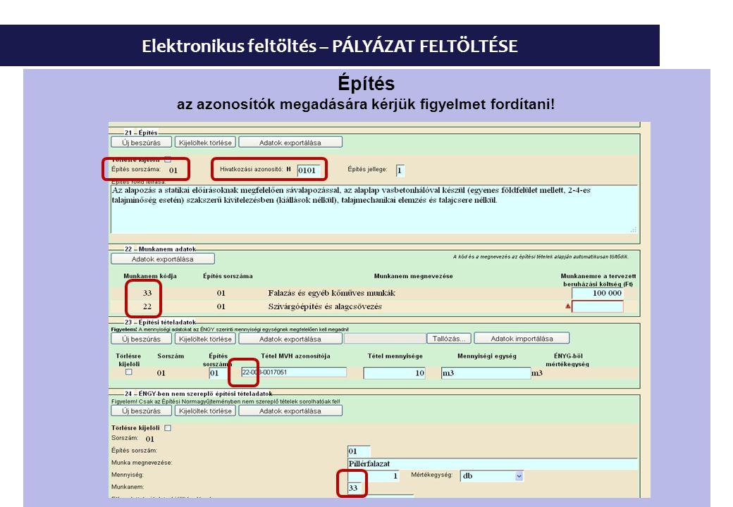 Elektronikus feltöltés – PÁLYÁZAT FELTÖLTÉSE