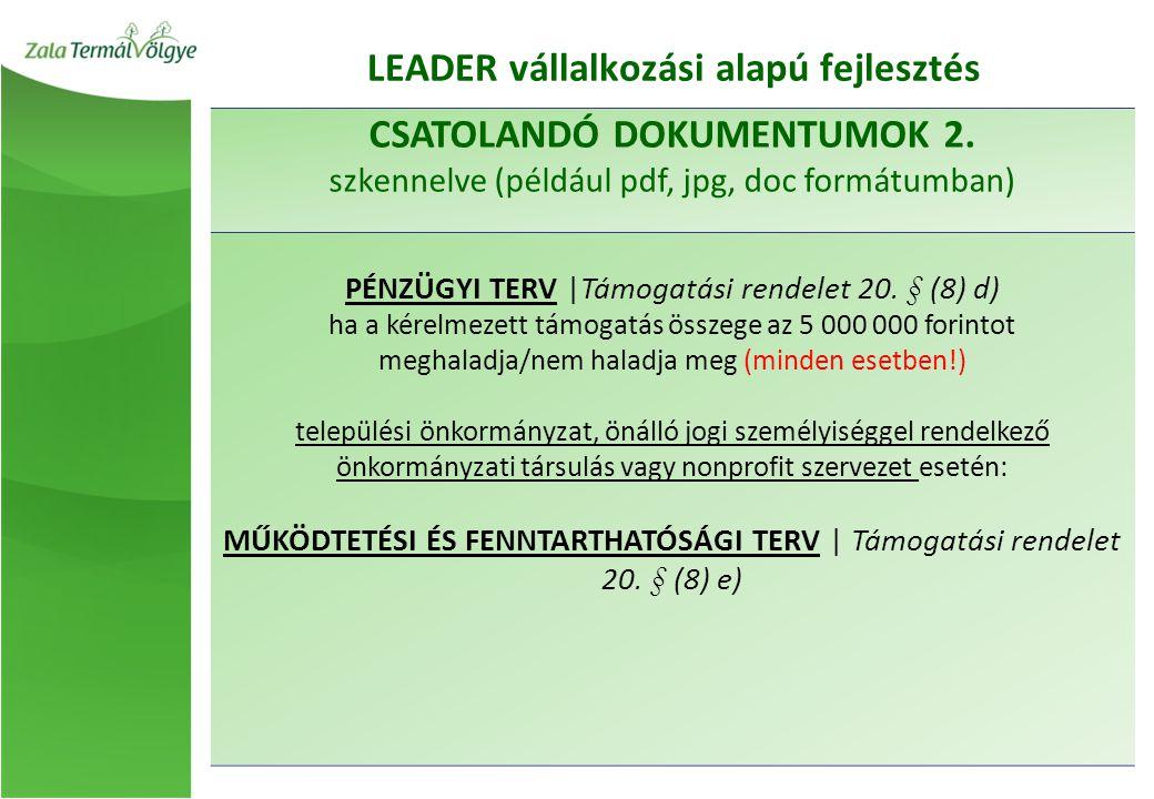 LEADER vállalkozási alapú fejlesztés