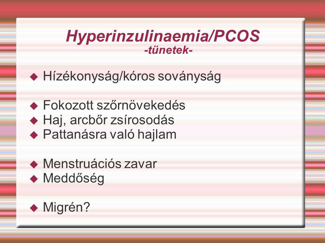 Hyperinzulinaemia/PCOS -tünetek-