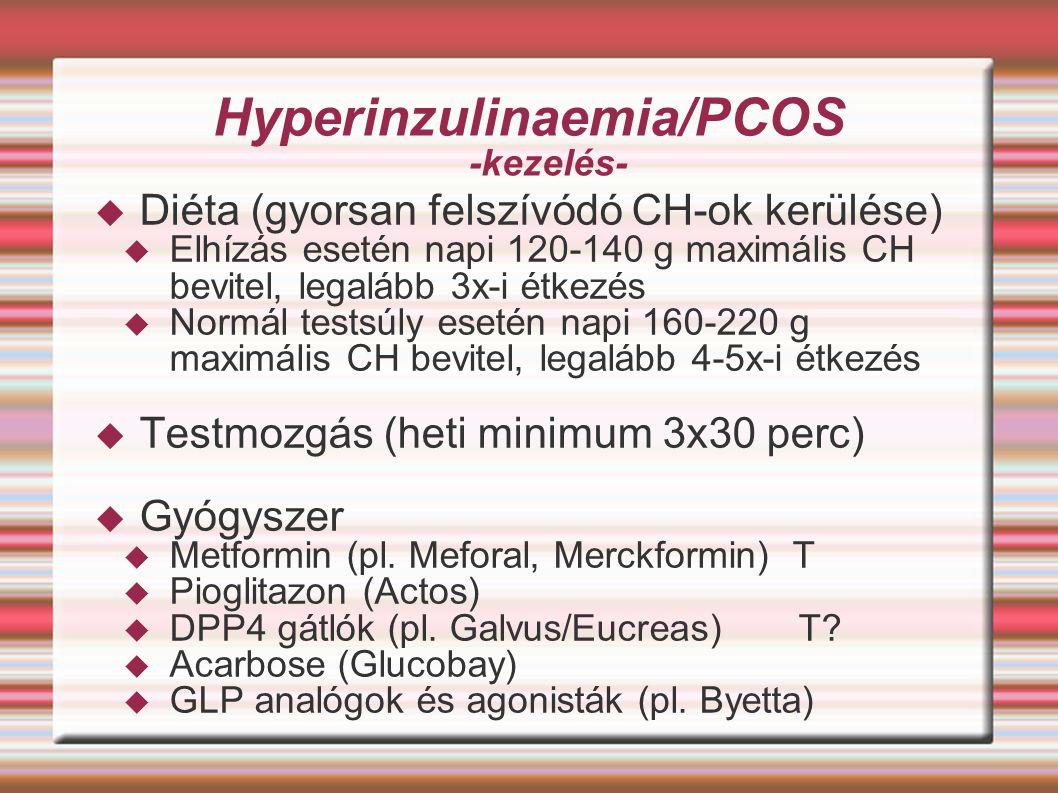 Hyperinzulinaemia/PCOS -kezelés-