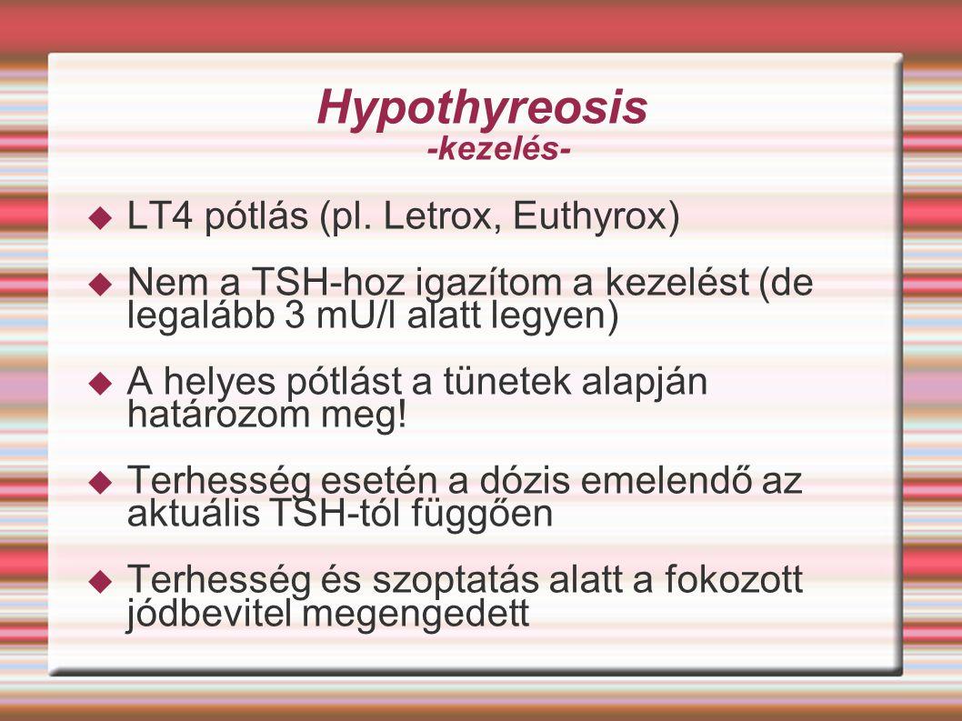 Hypothyreosis -kezelés-