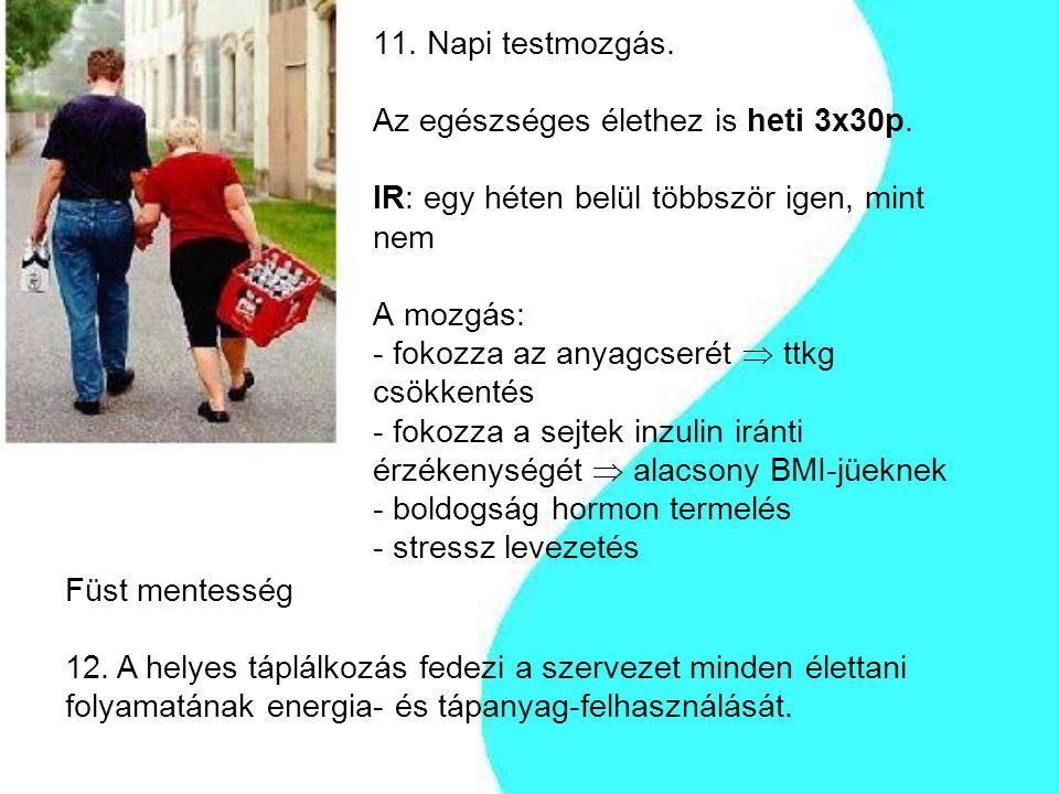 11. Napi testmozgás. Az egészséges élethez is heti 3x30p
