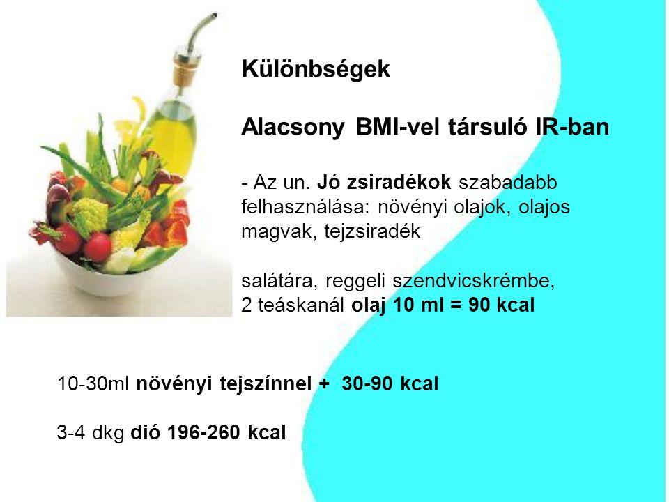 Különbségek Alacsony BMI-vel társuló IR-ban - Az un