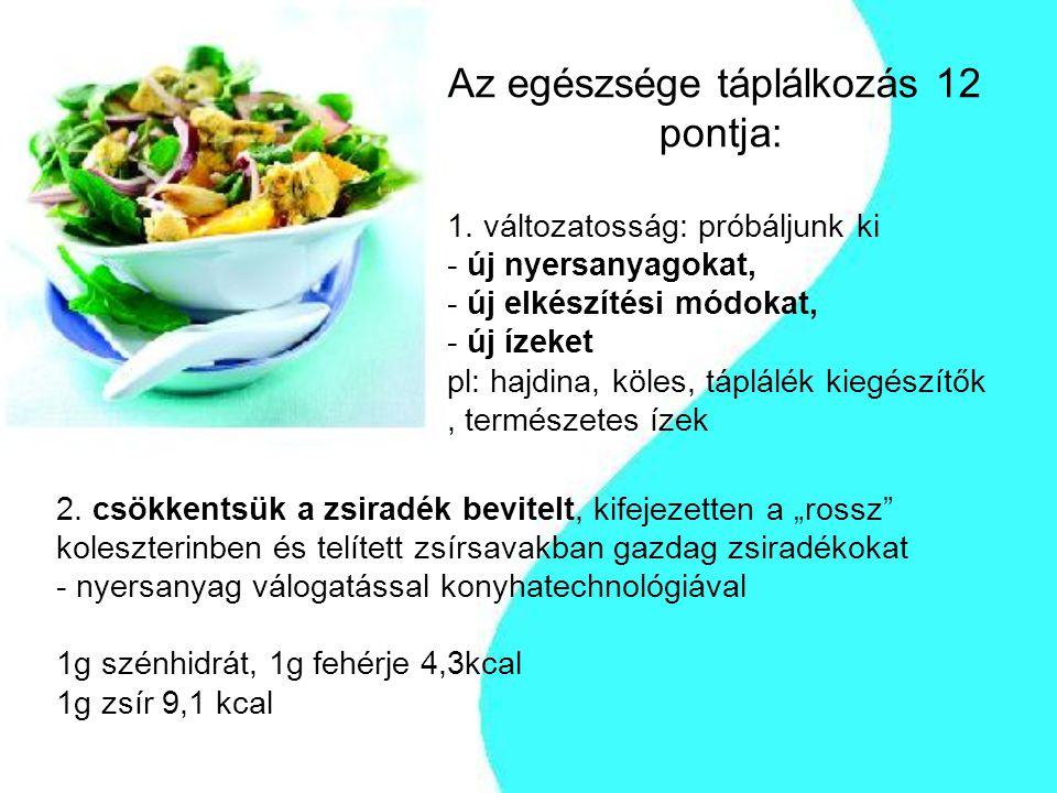 Az egészsége táplálkozás 12. pontja: 1