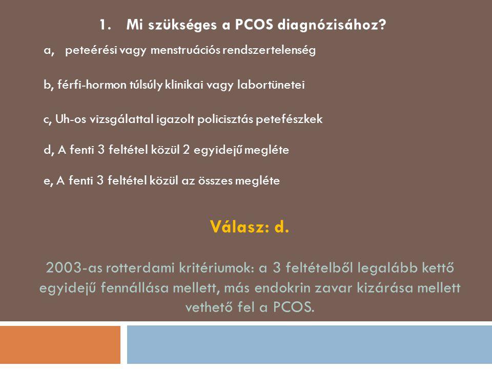 Mi szükséges a PCOS diagnózisához