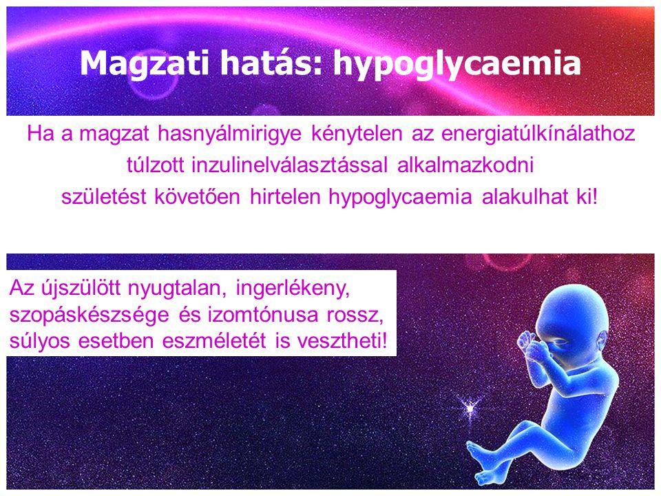 Magzati hatás: hypoglycaemia