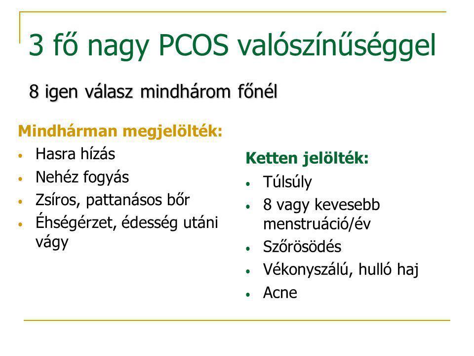 3 fő nagy PCOS valószínűséggel