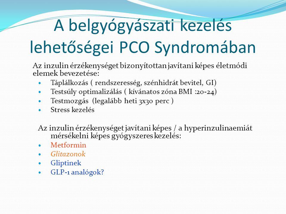 A belgyógyászati kezelés lehetőségei PCO Syndromában