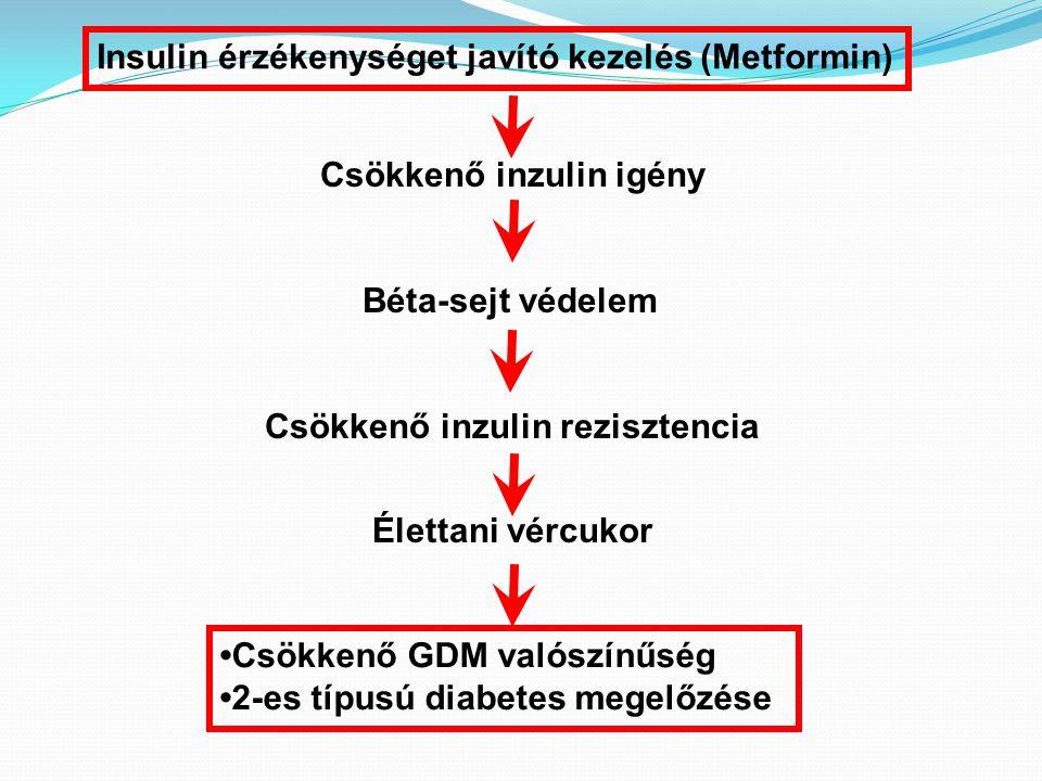 Csökkenő inzulin igény Csökkenő inzulin rezisztencia