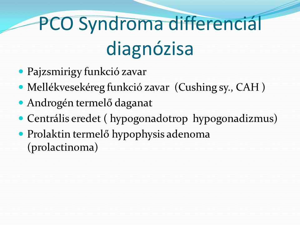 PCO Syndroma differenciál diagnózisa