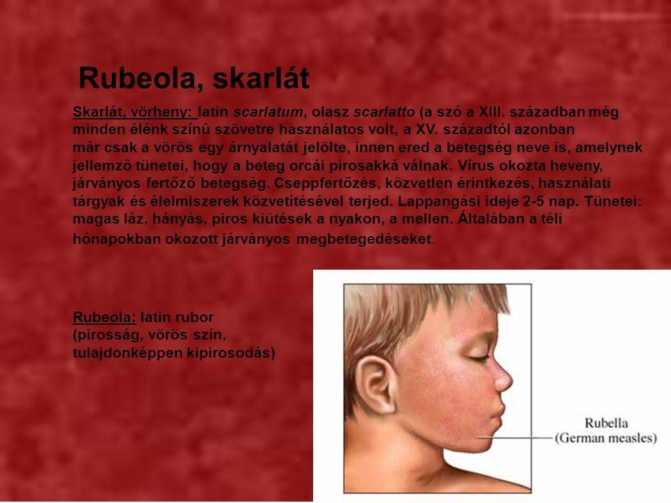 Rubeola, skarlát