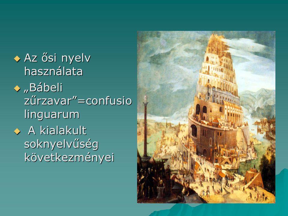 Az ősi nyelv használata