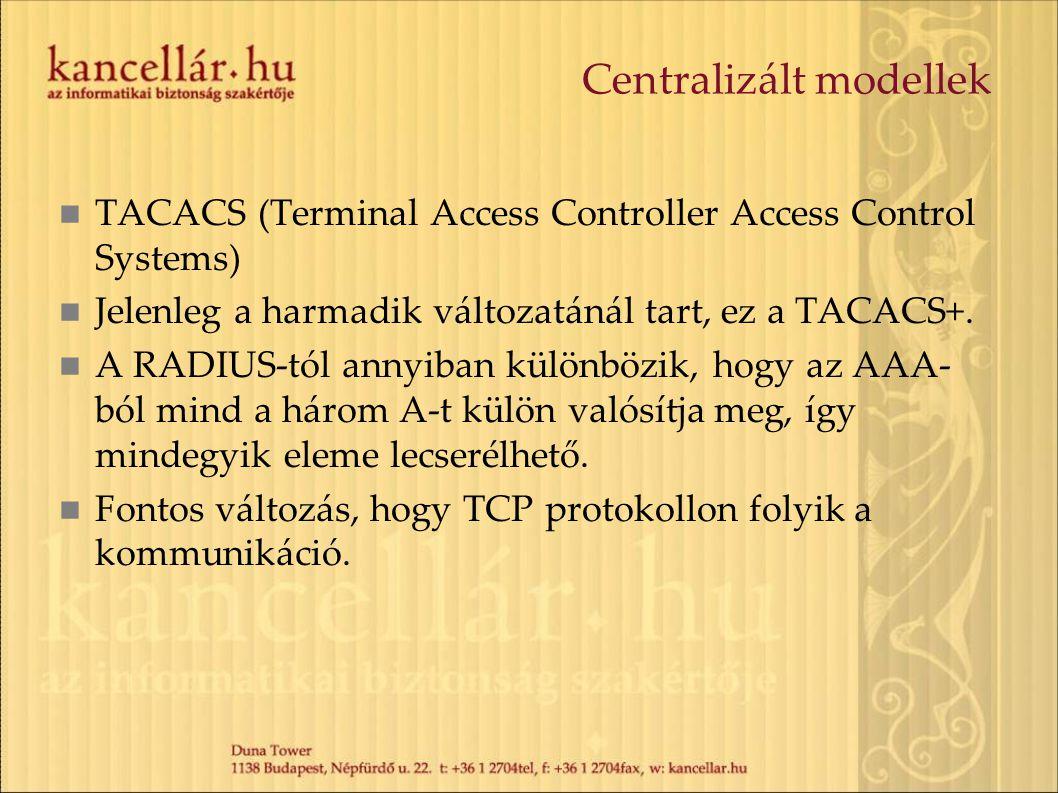 Centralizált modellek