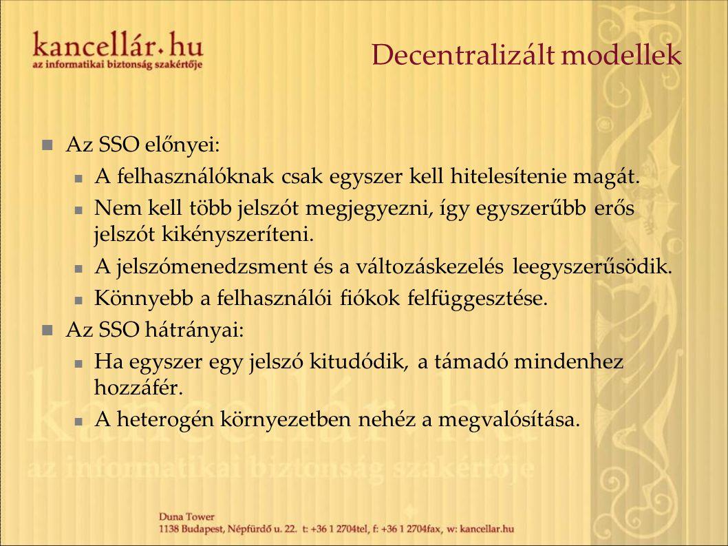 Decentralizált modellek