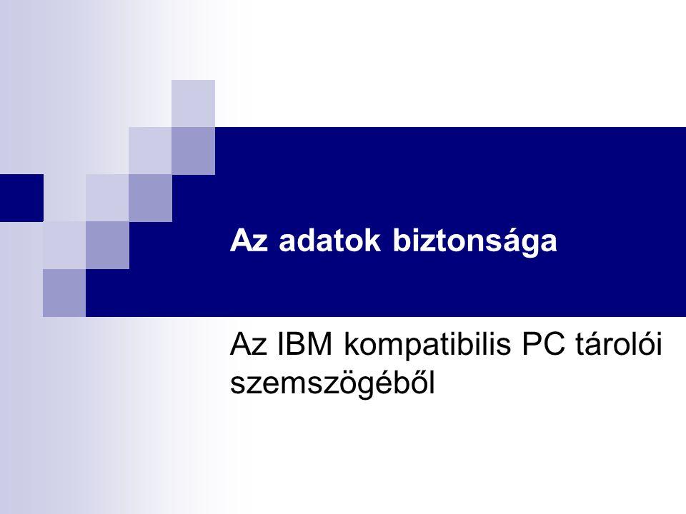 Az IBM kompatibilis PC tárolói szemszögéből