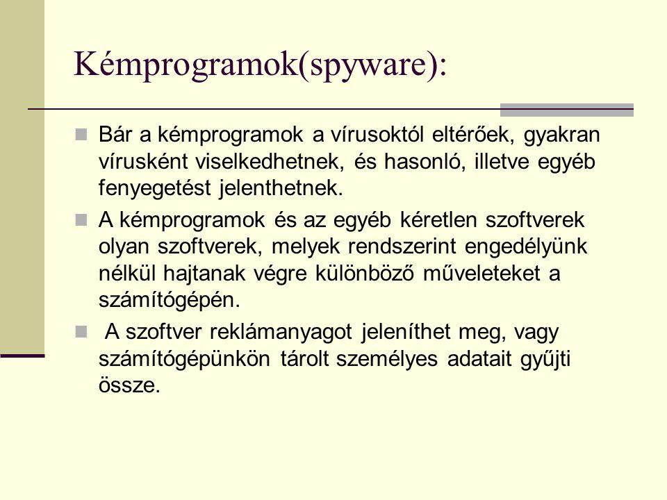 Kémprogramok(spyware):