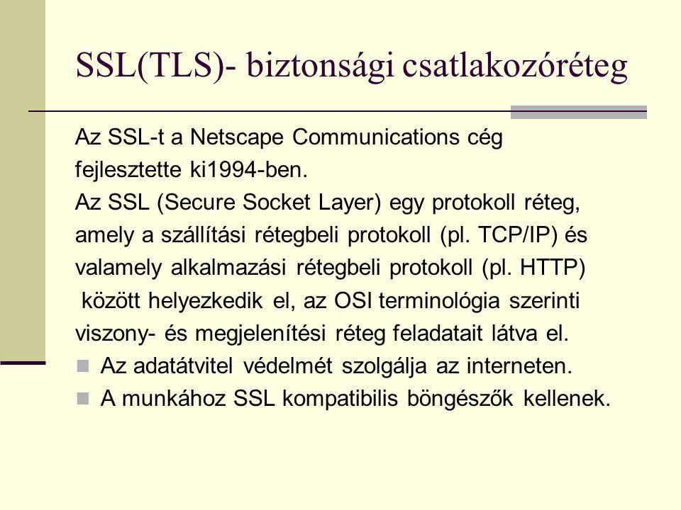 SSL(TLS)- biztonsági csatlakozóréteg