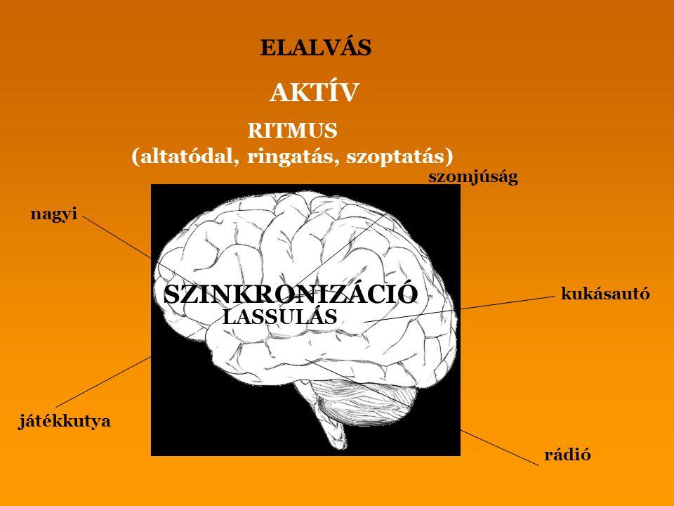 AKTÍV SZINKRONIZÁCIÓ ELALVÁS RITMUS (altatódal, ringatás, szoptatás)