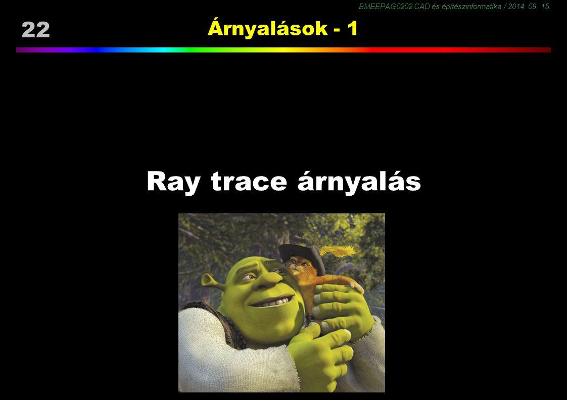 22 Árnyalások - 1 Ray trace árnyalás 22