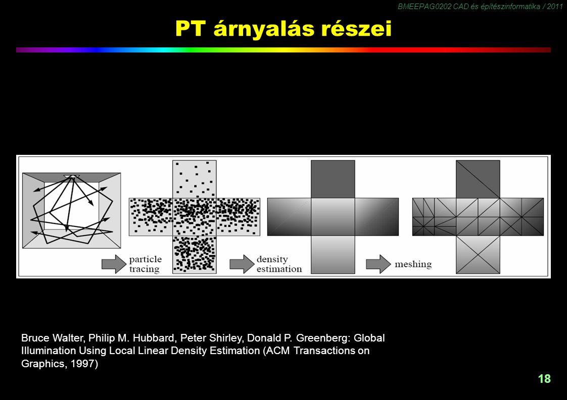 PT árnyalás részei 1.1 Particle Trace 1.2 Density Estimation