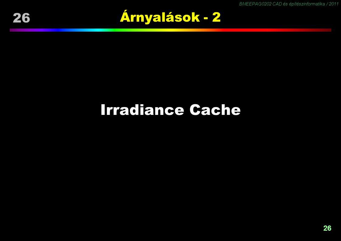 Irradiance Cache