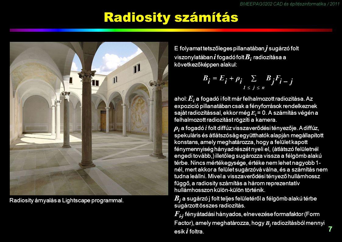 Radiosity számítás: formafaktor