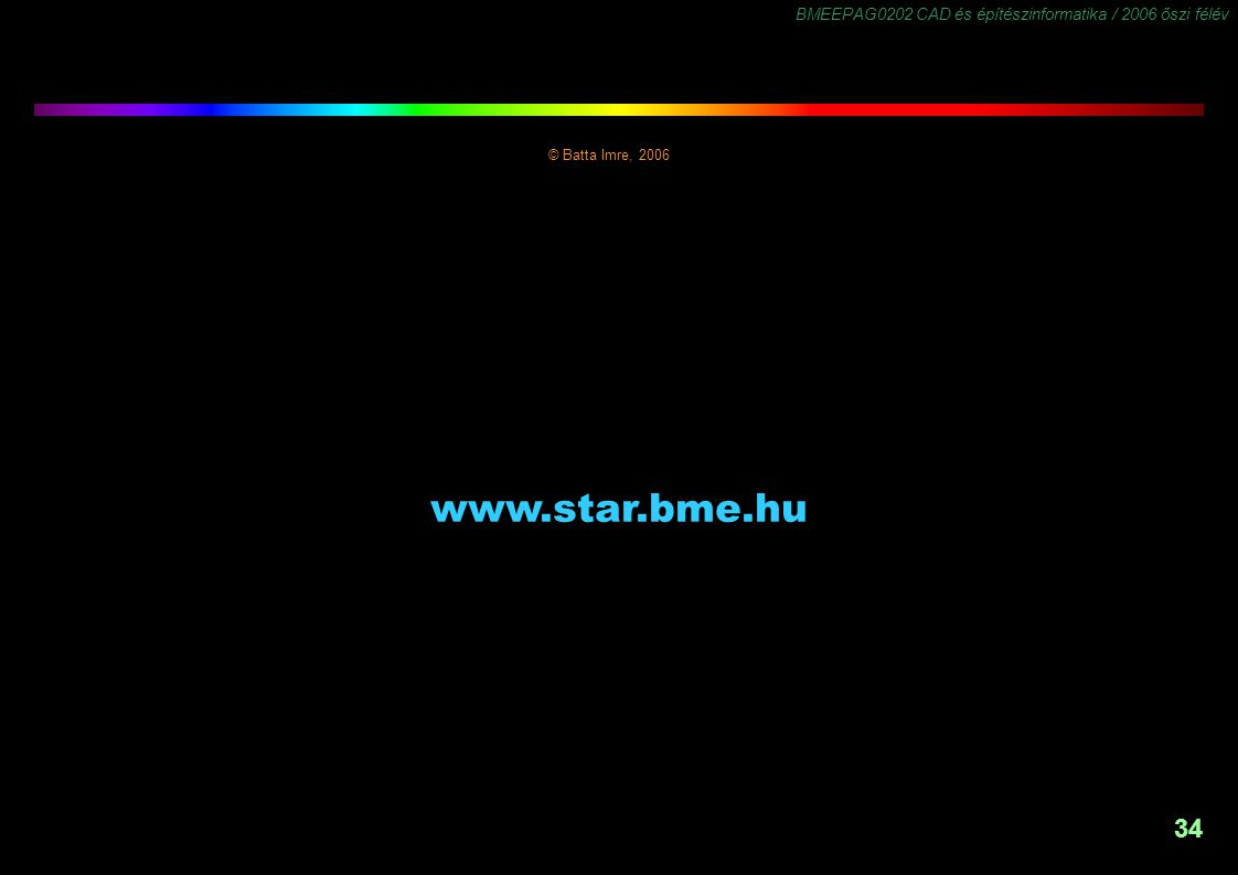 © Batta Imre, 2006 www.star.bme.hu