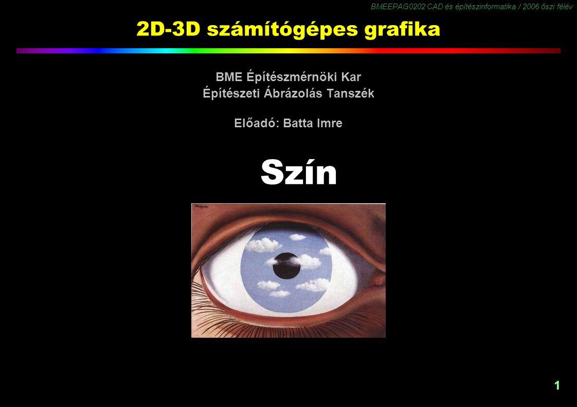 2D-3D számítógépes grafika